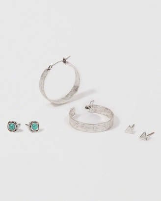Abercrombie & Fitch Classic Silver Hoop Earring Pack