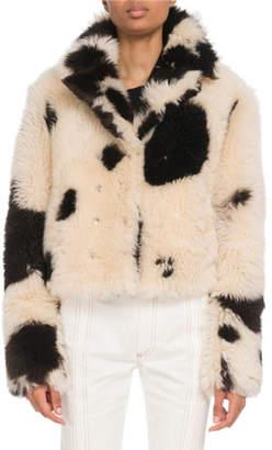 Chloé Reversible Two-Tone Shearling Fur Jacket