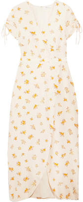 Madewell - Magdalena Wrap-effect Floral-print Silk Crepe De Chine Dress - White $170 thestylecure.com
