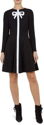 Ted Baker Gilleen Bow-Detail Knit Skater Dress