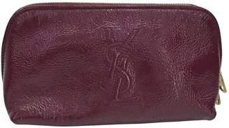 Saint Laurent Burgundy Patent leather Purses, wallets & cases