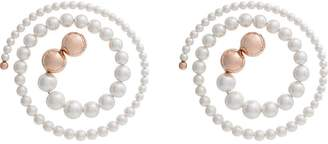 Y/Project white spiral pearl earrings