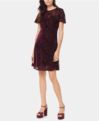 Michael Kors Textured Flutter-Sleeve Shift Dress