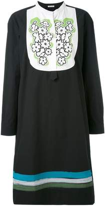 Tomas Maier embroidered bib dress