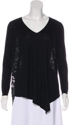 Joie Guipure Lace Long Sleeve Top
