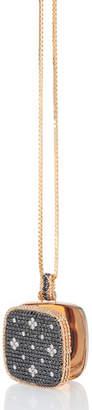 Roberto Coin 18k Rose Gold Venetian Princess Diamond Locket Necklace
