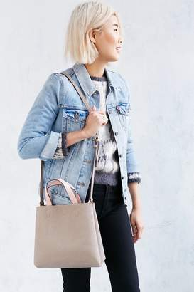 Mini Reversible Vegan Leather Tote Bag $44 thestylecure.com