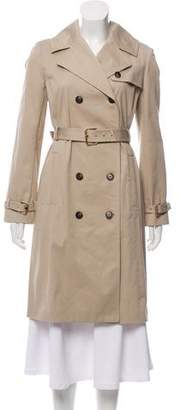Tory Burch 2017 Double-Breasted Classic Trench Coat