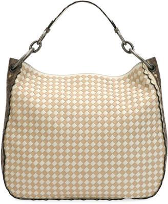 Bottega Veneta Loop Check Small Hobo Bag