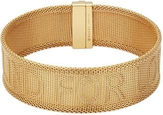 Gucci Blind for Love bracelet in gold