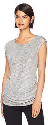 Calvin Klein Women's Sleeveless TOP with Rouching & Buttons