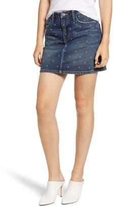 Current/Elliott The Five-Pocket Studded Denim Miniskirt