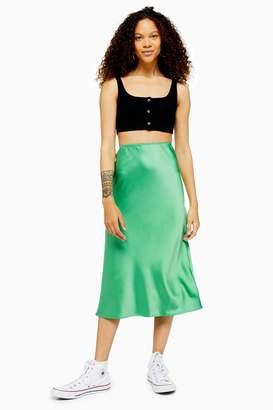 distinctive design colours and striking fast color Satin Bias Skirt - ShopStyle
