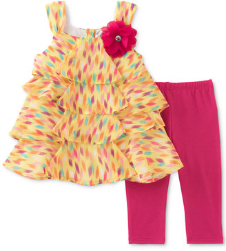 Kids Headquarters 2-Pc. Tunic & Capri Leggings Set, Baby Girls (0-24 months) $36 thestylecure.com