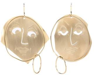 J.W.Anderson Moon Face gold-plated earrings