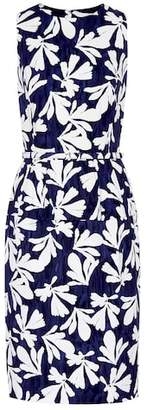 Oscar de la Renta Floral stretch cotton dress