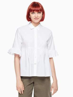 Kate Spade Ruffle sleeve shirt