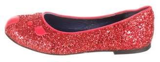 Little Marc Jacobs Girls' Glitter Mouse Flats