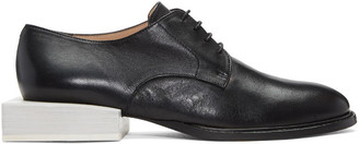 Jacquemus Black 'Les Chaussures Clown' Derbys $585 thestylecure.com