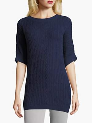Betty Barclay Cable Knit Jumper, Peacoat Blue
