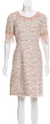Blumarine Tweed Mini Dress