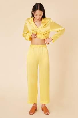 bda0eff93f Mansur Gavriel Silk Charmeuse Pajama Pant - Royal