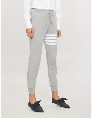 Thom Browne 4-bar Stripe cotton-jersey jogging bottoms
