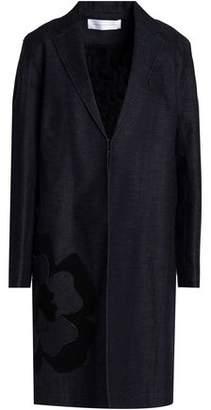 Victoria Beckham Victoria Floral-Appliquéd Denim Coat