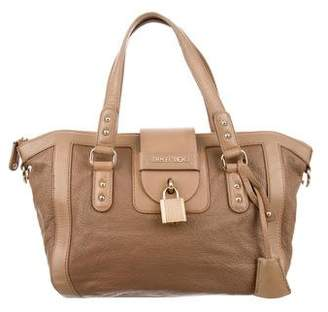 Jimmy Choo Grain Leather Satchel