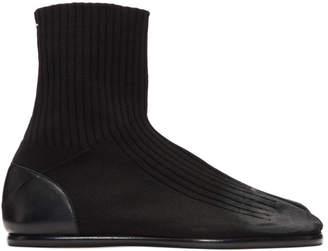 Maison Margiela Black Knit Tabi Boots