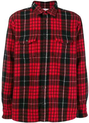 Saint Laurent plaid long-sleeve shirt