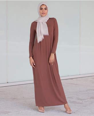 Verona Collection Box-Pleat Maxi Dress