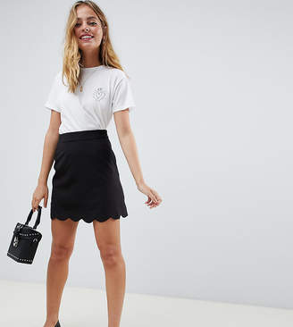 Asos DESIGN Petite tailored a-line mini skirt with scallop hem
