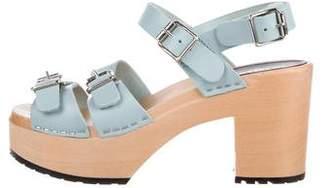 Swedish Hasbeens Buckled Platform Sandals