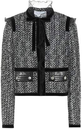 Giambattista Valli Boucle cotton and silk-blend jacket