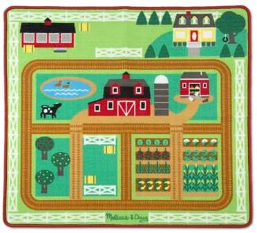 Melissa & Doug® Round the Barnyard Farm Play Rug