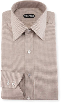 Tom Ford Slim-Fit Mini-Houndstooth Dress Shirt