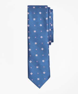 Brooks Brothers Floral and Square Pattern Silk Tie