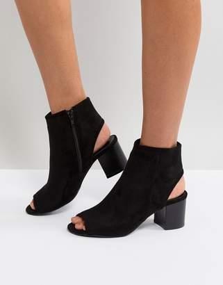 London Rebel Peep Toe Sandal