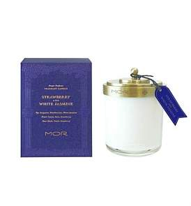 MOR Fragrant Candle 380G Strawberry & White Jasmine