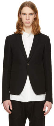 Rick Owens Black Soft Short Blazer
