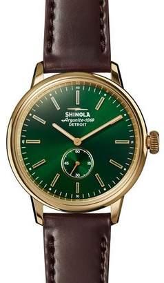 Shinola Men's 42mm Bedrock Chronograph Watch, Forest Green/Oxblood/Golden