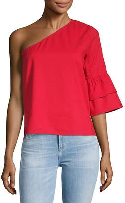 Lucca Couture Women's Isabelle One-Shoulder Cotton Top