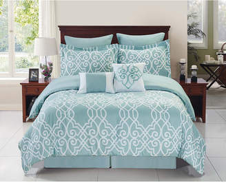 Cathay Home Inc. Dawson Bed in a Bag Queen Set Bedding