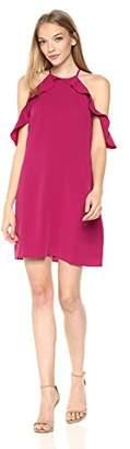 Cooper & Ella Women's Saga Ruffle Cold Shoulder Dress