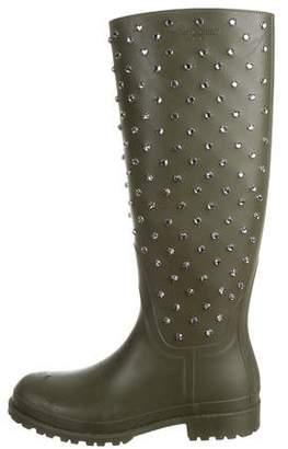 Saint Laurent Festival Embellished Rain Boots