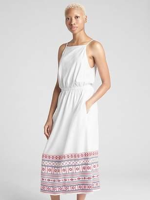 Gap Embroidered Cami Midi Dress