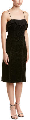 Nicole Miller Silk-Trim Sheath Dress