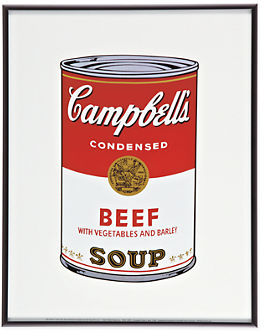 Warhol, Campbell's Soup, Beef