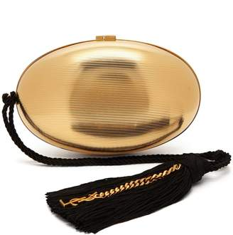 Saint Laurent Shell Minaudière tassel clutch